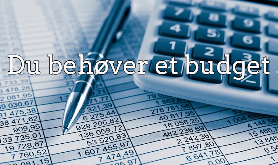 Budget: Nødvendige udgifter VS Unødvendige udgifter